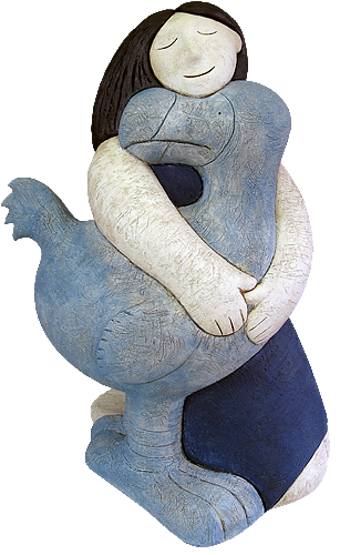 The Dodo and the Girl 52 x 31cm - Ceramic Ltd of 24 £1,100