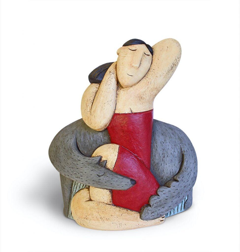 Dream - 33 x 25cm - hand built clay - £650